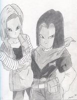 Android 17 & 18 by Megaman-NetNavi