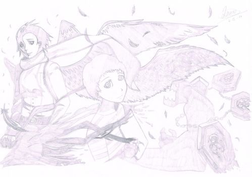 P3 Sketch - The forms of Thanatos by Laurelia-San