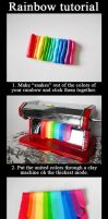 Polymer clay rainbow tutorial by GemDeDude