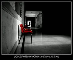 Lonely Chairs In Empty Hallway by gONZOm
