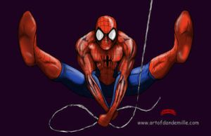 Spiderman web by Dan-DeMille