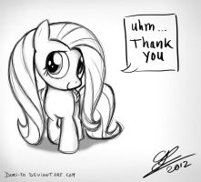 Filly Fluttershy says thank you by Dori-to