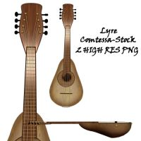 Lyre Stock 1 by Comtessa-Stock