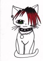 emo kitty by Twisted462