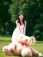with my teddy by gauricavfx
