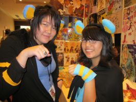 A-Kon 23: Luxio and Luxray girls by Inept-Evil-Genius