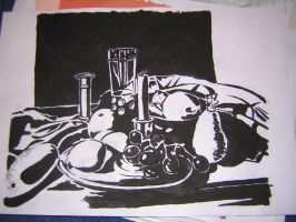 Black and White Still Life School Project by TheSpinningCat
