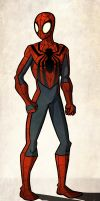 Spider-man costume redesign by joe-wright