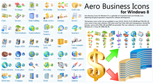 Aero Business Icons for Windows 8 Demo by fawkesbonfire