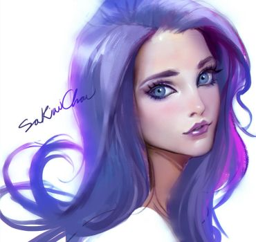 Portrait experiemental01(livestreaming!) by sakimichan