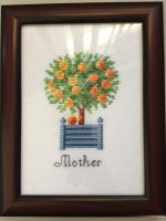 Orange Tree Cross Stitch by killthedrummer