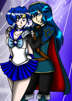 Lucina and Sailor Mercury by NickyVendetta