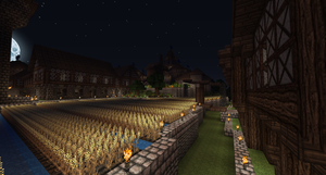Medieval at Night by LordSkrully