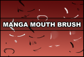 Manga mouth brush by Faeth-design