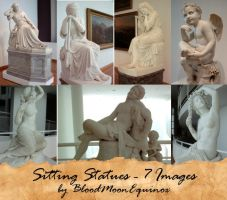 Sitting Statues - 7 Images by BloodMoonEquinox