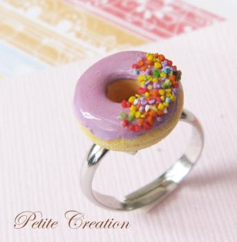 purple donut ring by PetiteCreation