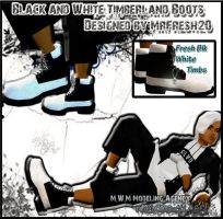 Black n White Timbs AD by TreStyles