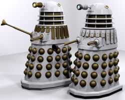 Blender Daleks WIP 4 by Librarian-bot