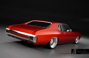 chevelle SS custom 1 by 3dmanipulasi