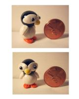 Baby Penguin Charm by Blazesnbreezes
