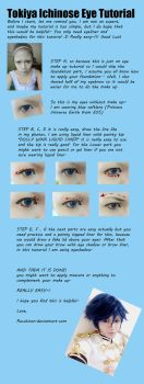 Tokiya Ichinose Eye tutorial by recchinon