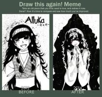 Draw this again MEME : Alluka Zoldyck by Wiiwiipyon