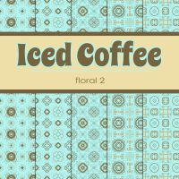 Free Iced Coffee: Floral 2 Patterned Papers by TeacherYanie