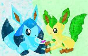 Glaceon X Leafeon by Luxray240