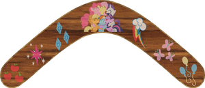 Mane 6 Ponys Boomerang by Out-Buck-Pony