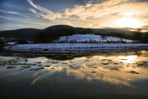 Ice on the Wye by Oldtoppy