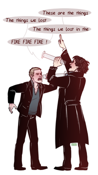 Sherlock BBC: drunkies by RinGreen