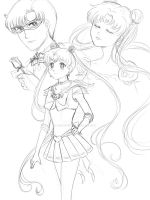 Sailor Moon Doodles by TerraForever