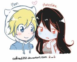 [Adventure Time] Finn x Marceline (Finnceline) by ashred252