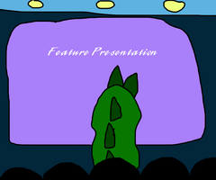 Godzilla Watching a Movie in the Movie Theater by MikeEddyAdmirer89