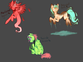 Pony Adoptables #2 (Ghost Ponies- Closed!) by Closet-Furry