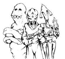 Alien Trio by ejamesheil