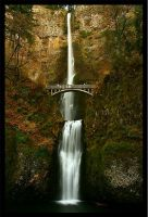 Waterfall - Multnomah Falls in Autumn by La-Vita-a-Bella