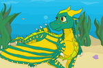 Art Trade: Eel of the Seawings by cutedog132