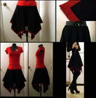Alpha Red Nightfall skirt by Blaqk23