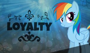 Rainbow Dash! [Loyalty] *Wallpaper* by RubytheCat12