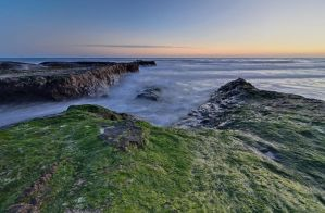 Campus Point Sunset Long Exposure Seascape by yo13dawg