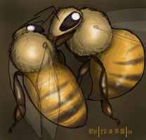 Bee FIGHT by aireona93