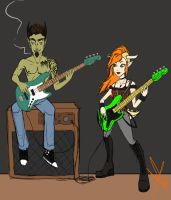 Nate and Berry rockin' out by Smashley-XD