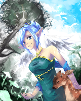 Mabinogi Commission - Fairyvoice by Cryxin