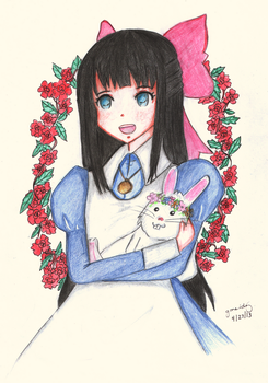 Aya and Snowball by MissArisu
