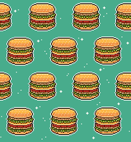 hamburger tile background by RRRAI