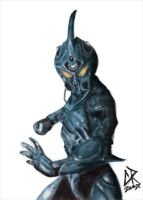 Guyver painting by creinholtz