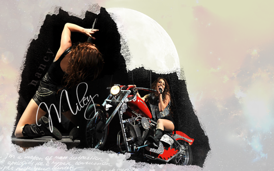 I'll be over the moon---Miley by aancy