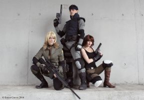 Metal Gear Solid cosplay Group by Meryl-sama
