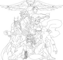 Justice League from Teen Titans Lines by JTmovie